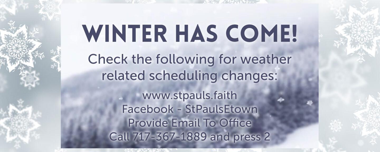 Winter Announcement