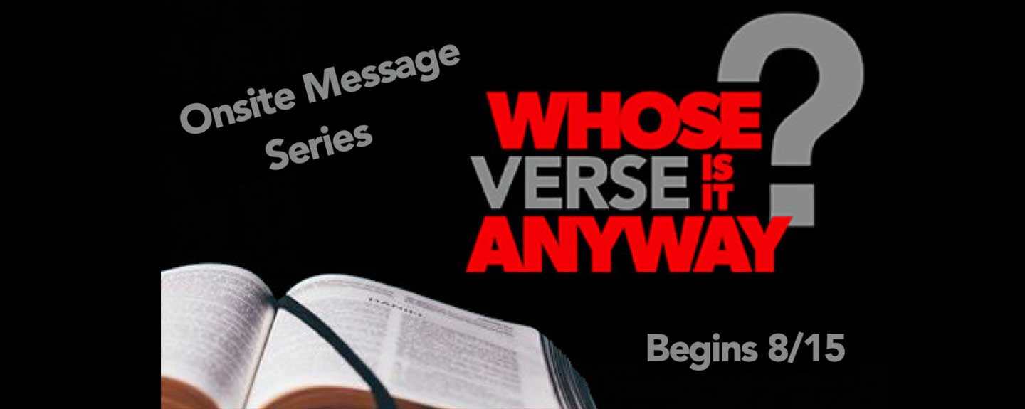 Whose Verse Is It Anyway?